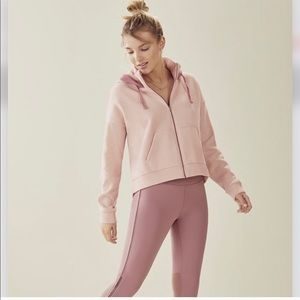Fabletics Demi Lavato Pink Hoodie and Legging Set